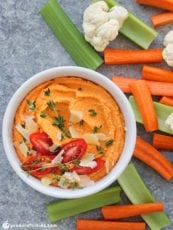 Quick & Easy Roasted Tomato Hummus