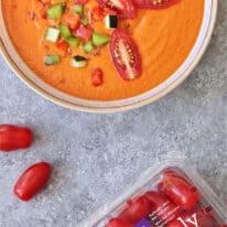 Roasted Tomato Red Pepper Gazpacho