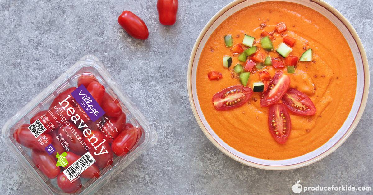 Roasted Tomato & Red Pepper Gazpacho