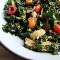 Savory Roasted Cherry Panzanella Salad