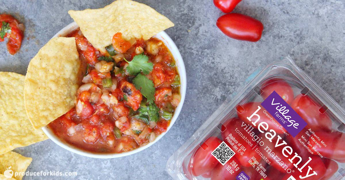 Sweet & Spicy Roasted Tomato Salsa