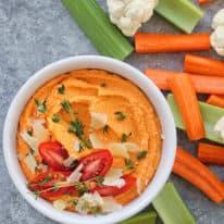 Quick & Easy Roasted Tomato Hummus
