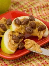 Chocolate Raisin Apple Snack