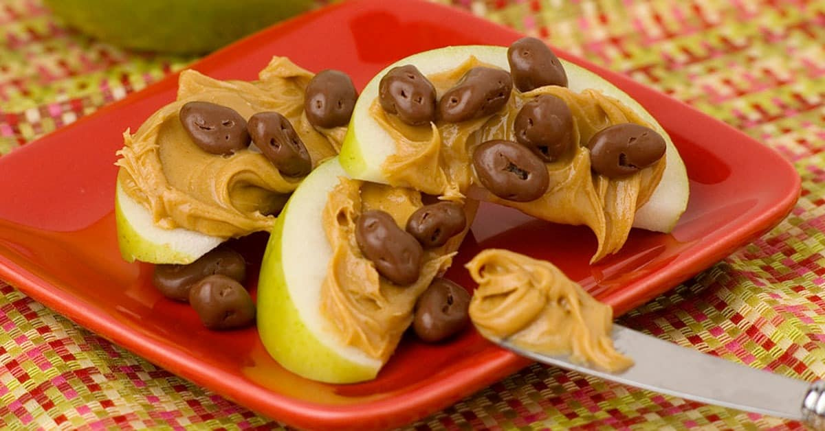 Chocolate Raisin Apple Snack