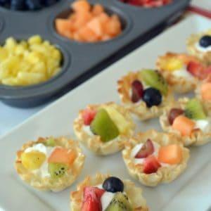 Mini Fruit & Yogurt Tartlets