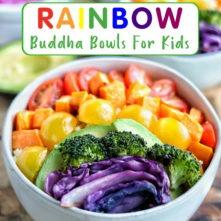 Rainbow Buddha Bowl for Kids