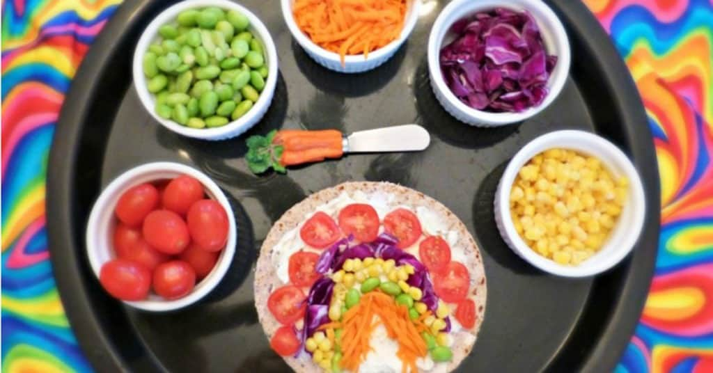 Veggie Rainbow Wraps