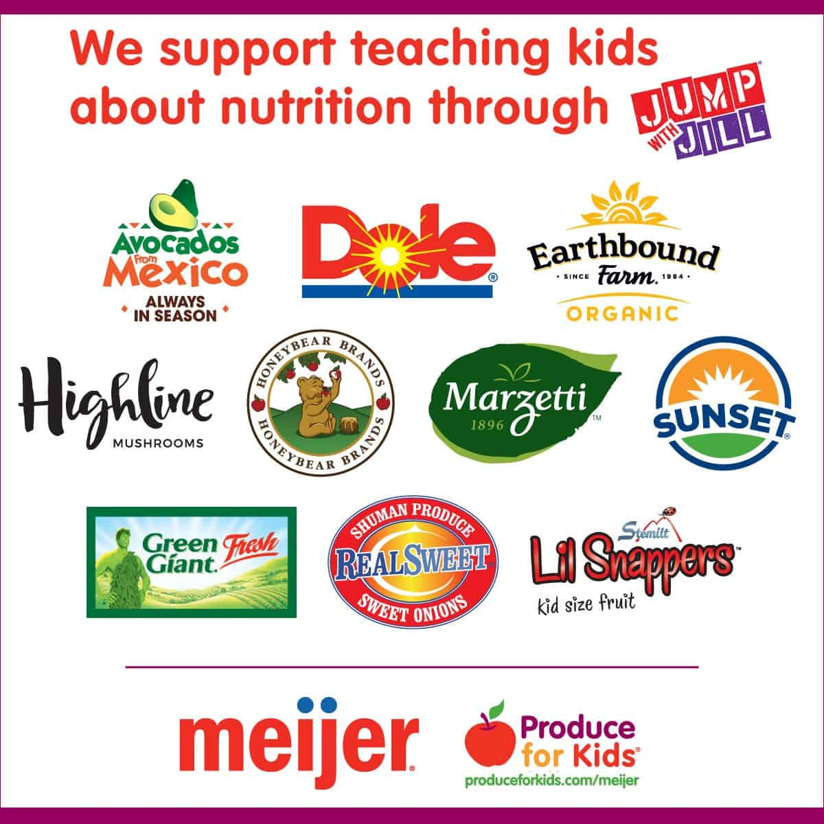help support nutrition education in schools with meijer produce