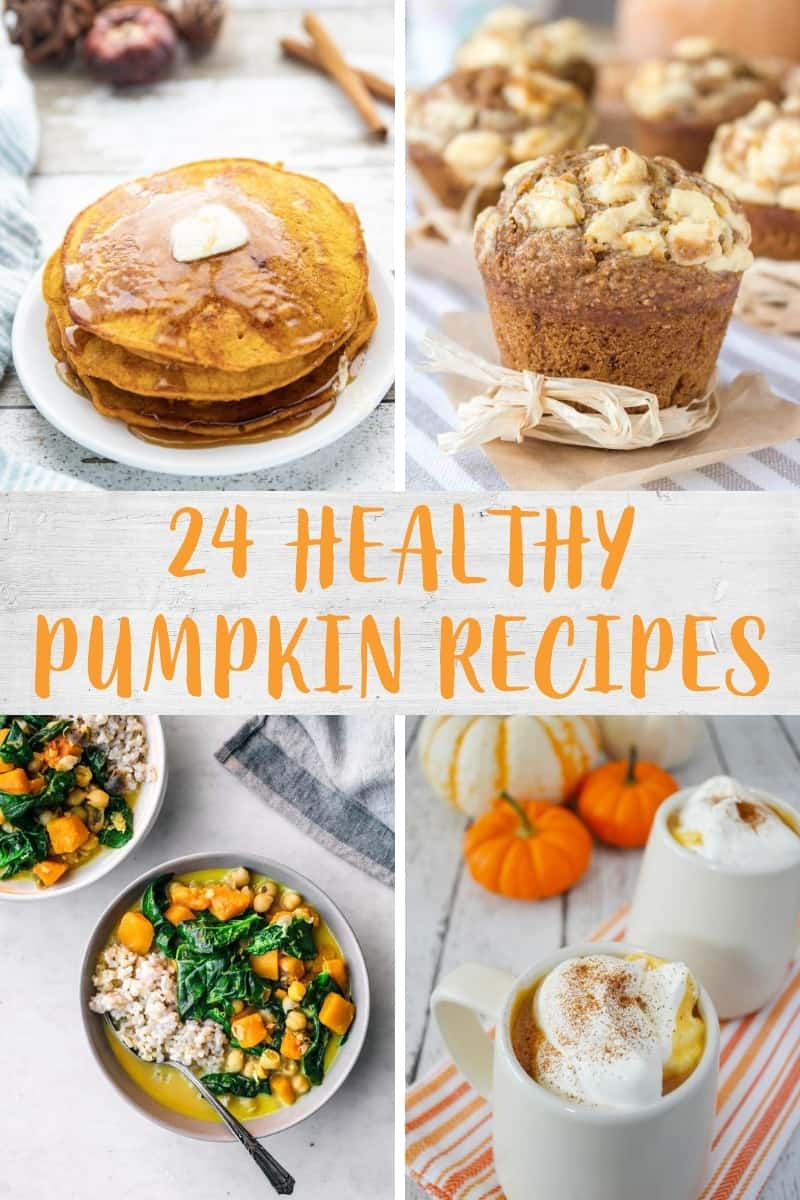 Collage of pumpkin recipe images