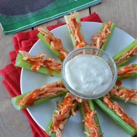 Buffalo Chicken Stuffed Celery