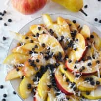 Caramel Pear & Apple Nachos