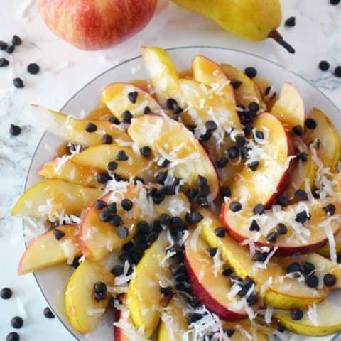 Caramel Pear & Apple Nachos