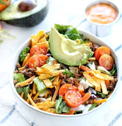 Easy Chopped Taco Salads