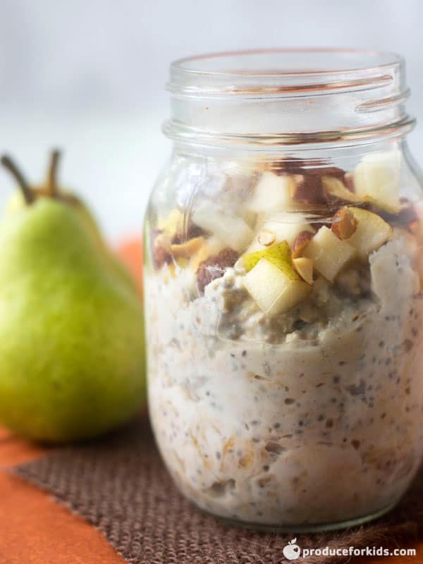 Pear and Almond Overnight Oats