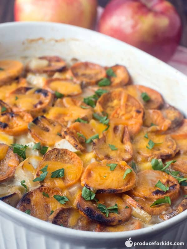 Scalloped Sweet Potatoes and Apples