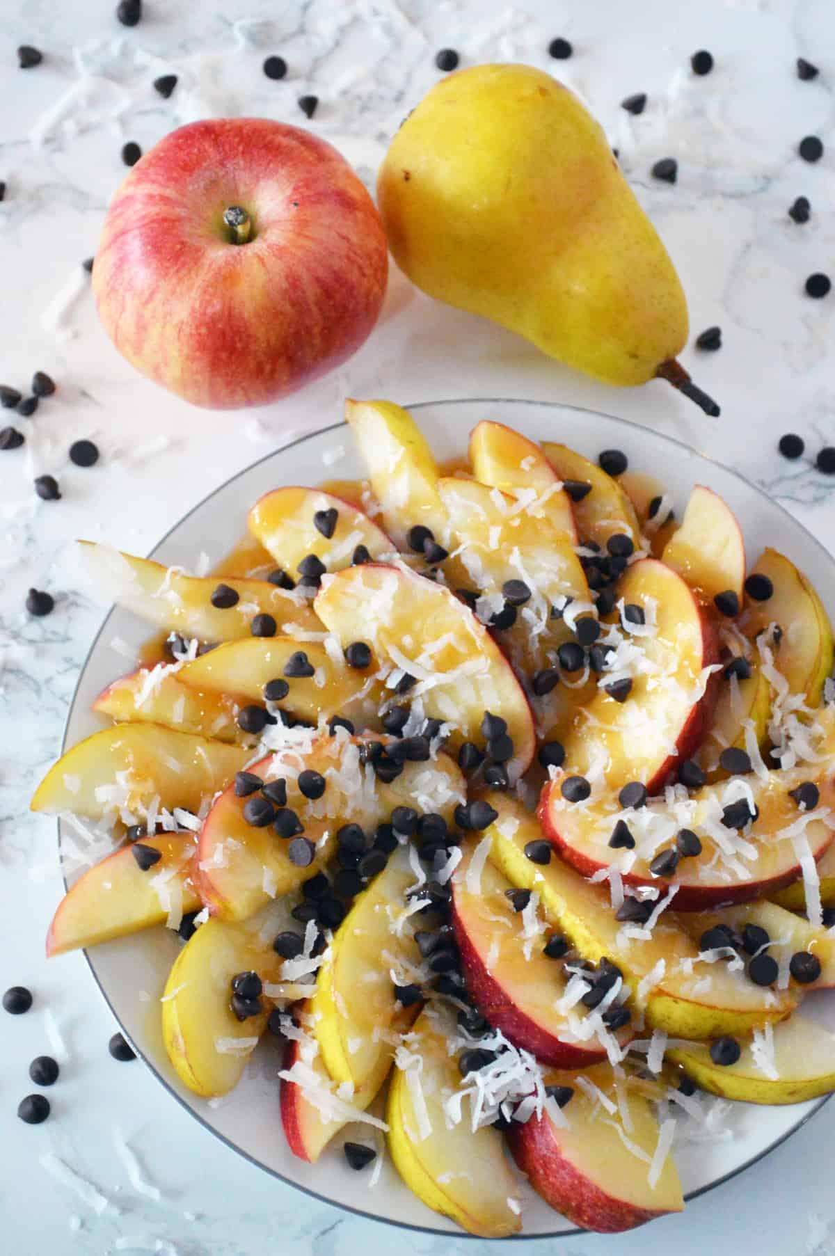 Best Pear and Apple Dessert Nachos