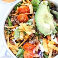 Easy Chopped Taco Salads