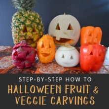Halloween Fruit and Vegetable Carvings