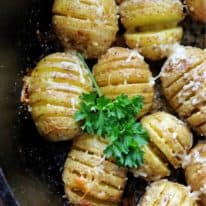 Garlic & Parmesan Mini Hasselback Potatoes