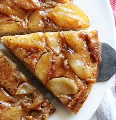 Upside Down Apple Skillet Pancake