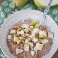 Instant Pot Spiced Pear Oatmeal
