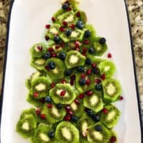 Kiwi Fruit Christmas Tree Platter