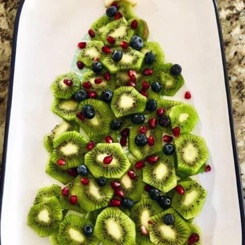 Kiwi Fruit Christmas Tree Platter