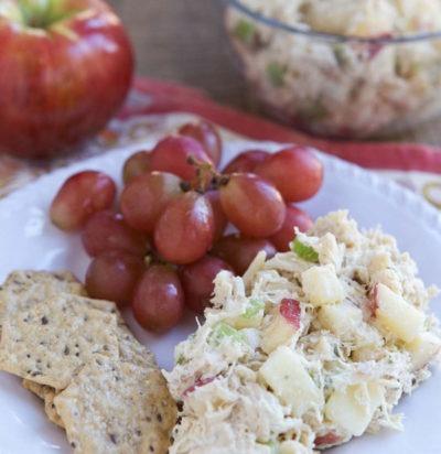 Nutty Greek Yogurt Chicken Salad with Apples