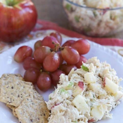 Nutty Greek Yogurt Chicken Salad with Apples