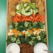 Fruit & Veggie Christmas Tree Party Tray