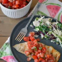 Grilled Chicken with Watermelon Salsa
