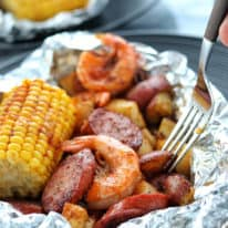 Cajun Shrimp Boil Foil Packets