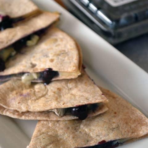 Blueberry & Brie Quesadillas
