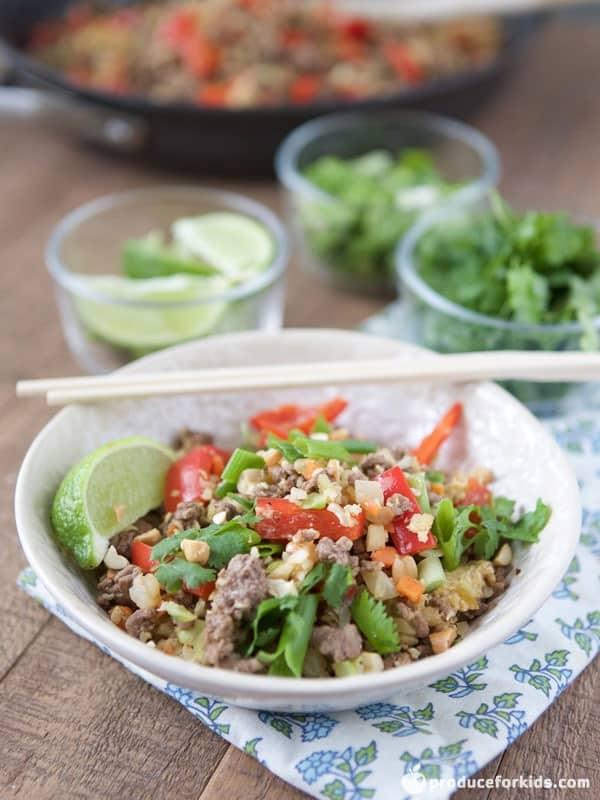 Thai-Style Beef Cauliflower Rice
