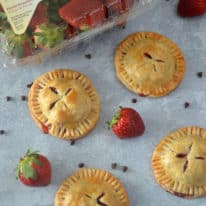 Strawberry Hand Pies with Chocolate