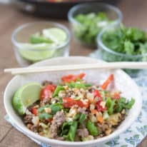 Thai-Style Beef Cauliflower Rice