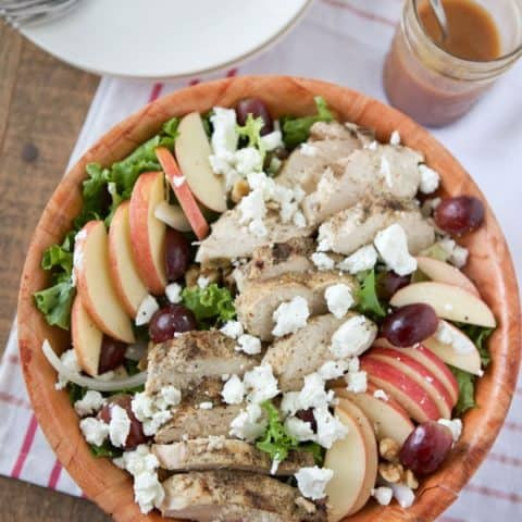 Grilled Chicken and Grape Salad