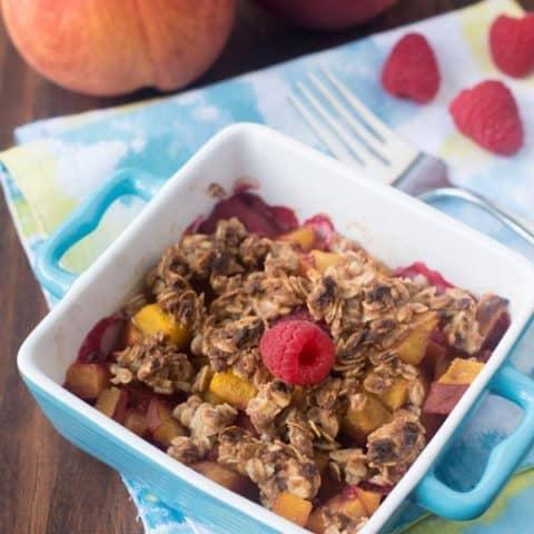 Individual Raspberry & Peach Crisps