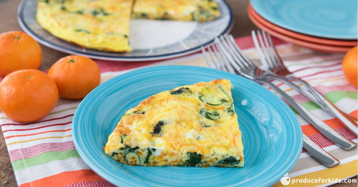 butternut squash and spinach frittata