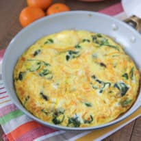Spiralized Butternut Squash and Spinach Frittata