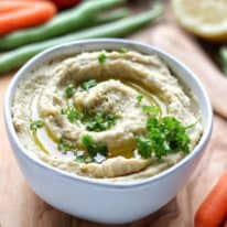 Homemade Ranch Hummus Dip