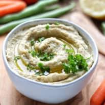 Homemade Ranch Hummus Dip