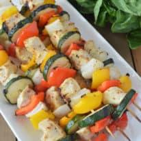 Grilled Chicken & Veggie Kabobs