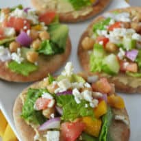Mini Mediterranean Chopped Salad Flatbreads