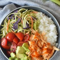 Buffalo Chicken Rice Bowls