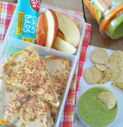 Cheese & Bean Quesadilla Bento Box