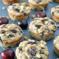 Chocolate Chip Cherry Muffins with Walnuts