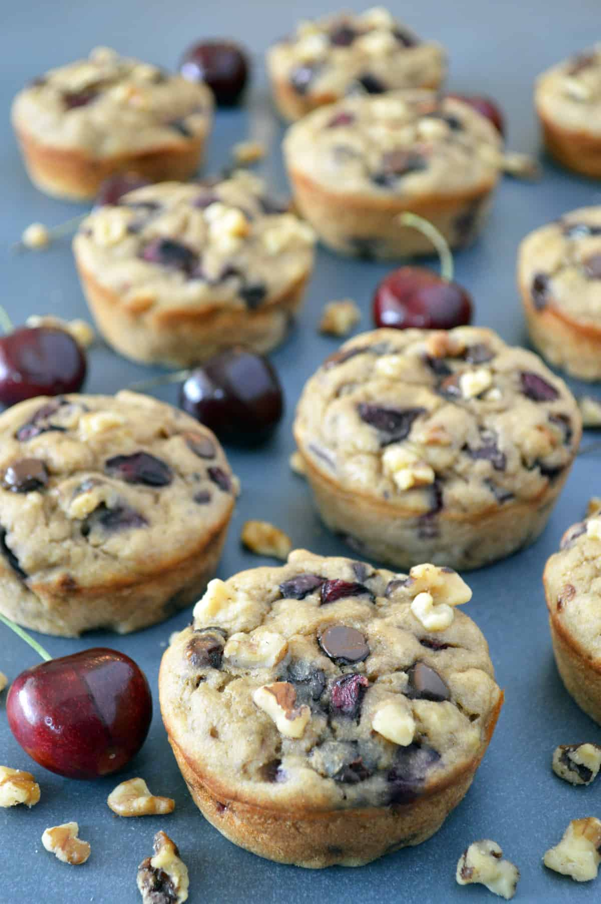 The Best Chocolate Chip Cherry Muffins