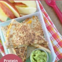 cheese and bean quesadilla bento box pinterest image