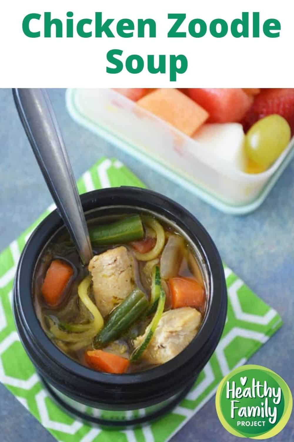 chicken zoodle soup pin